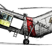 Old Rescue Helicopter by olivercook