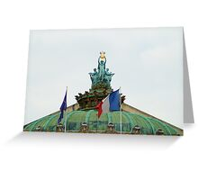 Rooftop of the Opera Garnier in Paris, France  Greeting Card