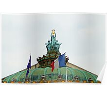 Rooftop of the Opera Garnier in Paris, France  Poster