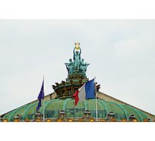 Rooftop of the Opera Garnier in Paris, France  Photographic Print