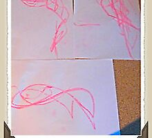 First real drawing at 3 years old -Fishy 2009 by Kaelem Emblow