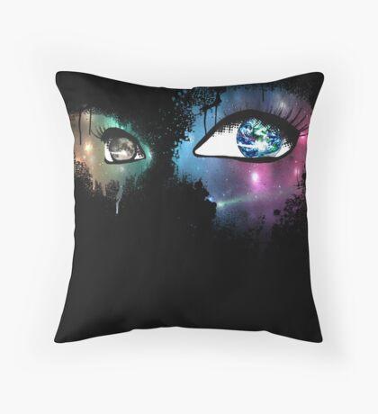 Active Optics-Black Throw Pillow