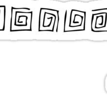 Square Patterns Sticker