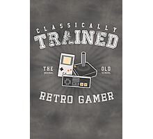 Classically Trained Retro Gamer Photographic Print