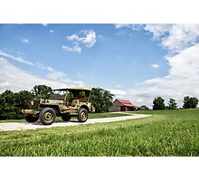 1942 Willys MB Jeep Photographic Print