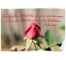 Worship the Lord in the beauty of Holiness Poster