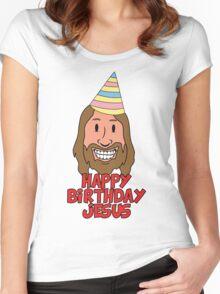 Happy Birthday Jesus Women's Fitted Scoop T-Shirt