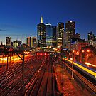 Melbourne Skyline at Dusk by S T