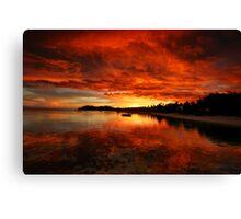 Mana Island Sunset Canvas Print