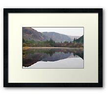 Glendalough lower lake Framed Print