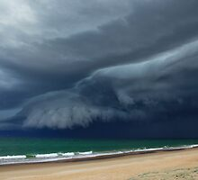 Sunrise Beach Storm by Anthony Cornelius