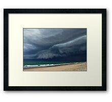 Sunrise Beach Storm Framed Print