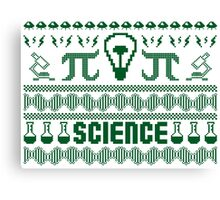 Science Ugly Christmas Sweater Canvas Print