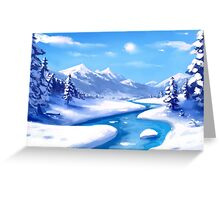 Snow and Mountains Greeting Card