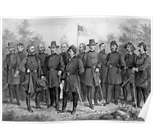 Union Generals of The Civil War Poster
