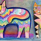 Happy cats 2 by Karin Zeller