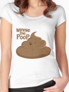 Winnie The Poop Women's Fitted Scoop T-Shirt