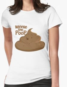Winnie The Poop Womens Fitted T-Shirt