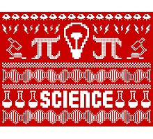 Science Ugly Christmas Sweater Photographic Print