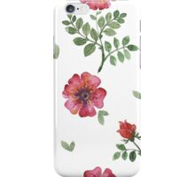 flowers watercolor of floral rose seamless pattern iPhone Case/Skin