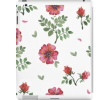 flowers watercolor of floral rose seamless pattern iPad Case/Skin