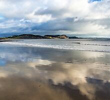 Clouds In The Sand - Lyme Regis by Susie Peek