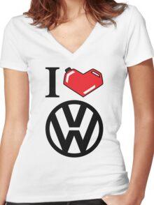 I Heart VW Women's Fitted V-Neck T-Shirt