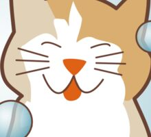 Merry Monday Days of the Week Cat Sticker