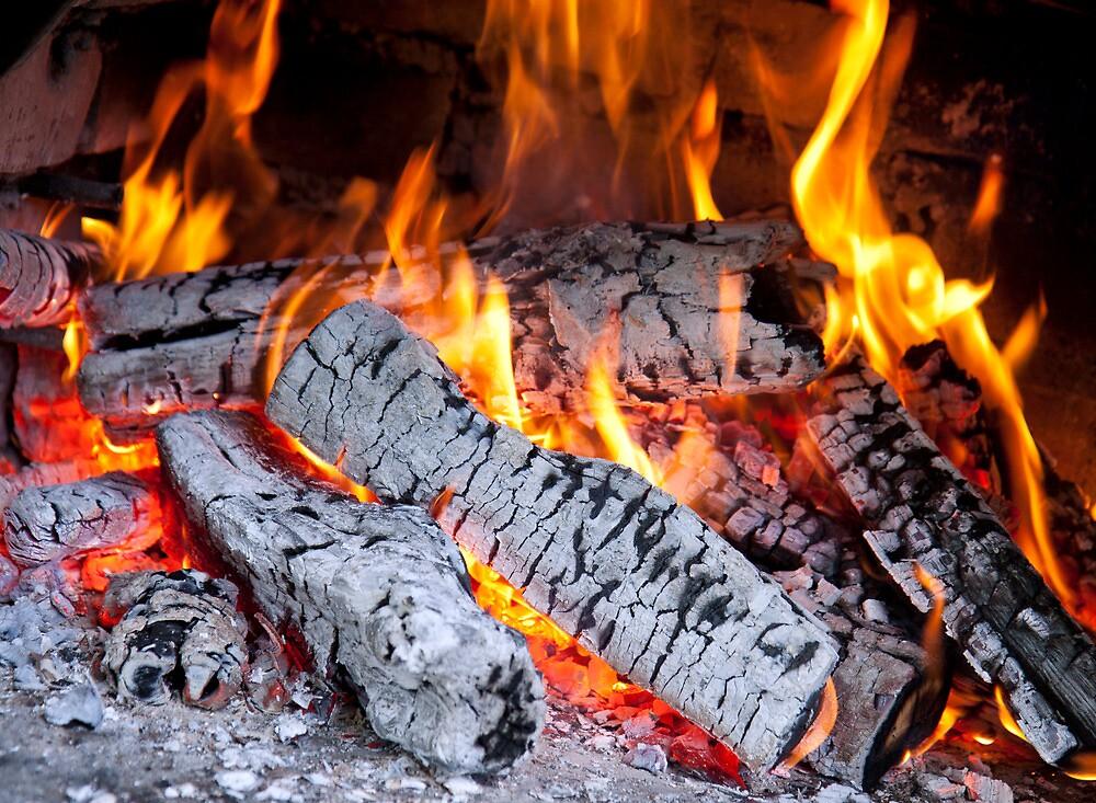 Burning fire by Cebas