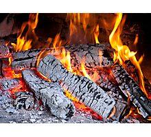 Burning fire Photographic Print