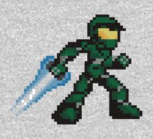 Pixel Master Chief One Piece - Long Sleeve