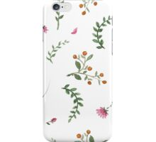 flowers watercolor  iPhone Case/Skin