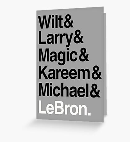 best players all the times. ( basketball ) Greeting Card