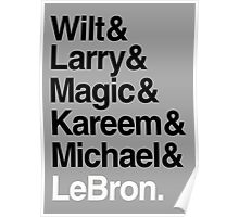 best players all the times. ( basketball ) Poster