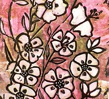 """Pink Lady No .8 (Woodcut Print) by Belinda """"BillyLee"""" NYE (Printmaker)"""