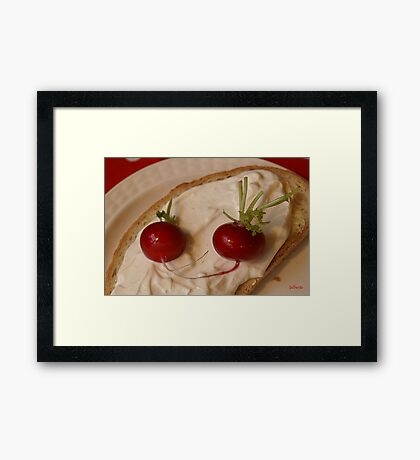 Two Red Radishes Framed Print