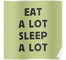 Eat a lot, sleep a lot Poster