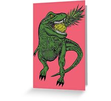 Dinosaur Pineapple Greeting Card