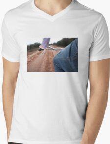 Girl Rides Bike Mens V-Neck T-Shirt