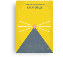 No163 My Ratatouille minimal movie poster Canvas Print
