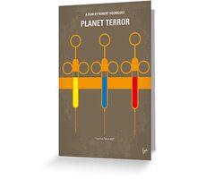 No165 My Planet terror minimal movie poster Greeting Card