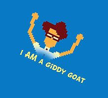 Maurice Moss - I AM a giddy goat (I.T. Crowd Design) by Matthew Ellerington