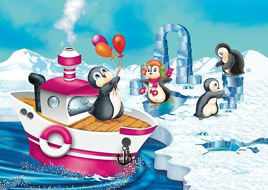 penguins in Antarctica  by SVETLANA ZOLOTAREVA