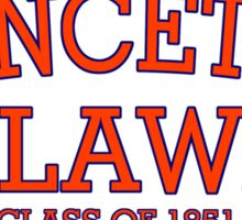Princeton Law Class of 1851 Sticker