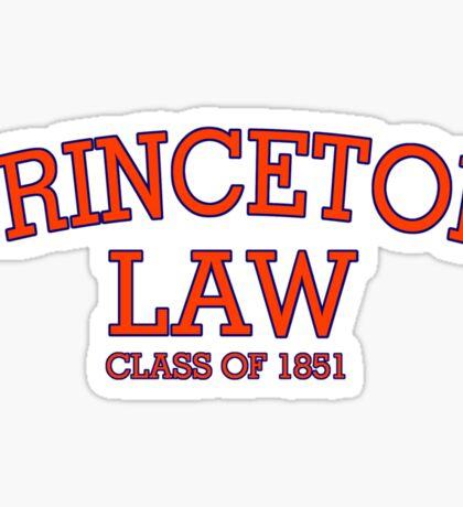 Princeton Law Class of 1851 Sticker