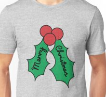 Merry Christmas Holly Unisex T-Shirt