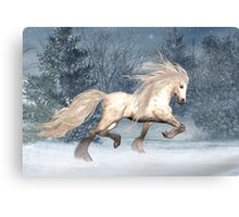 Winter Storm .. the stallions tale Canvas Print