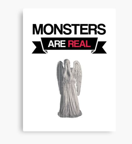 monsters are real (weeping angel version 1) Canvas Print