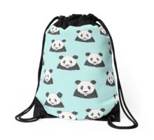 Panda Selfie Pattern Drawstring Bag