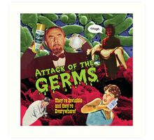 Attack of the Germs! Art Print